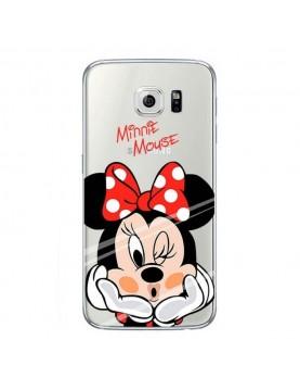 Coque silicone transparente Samsung Galaxy S6 - Minnie mousse