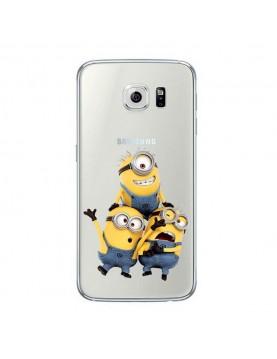 Coque Samsung Galaxy S7 Edge en silicone transparente les trois minions