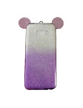 Coque-silicone-paillette-violette-Samsung-Galaxy-Grand-Prime-VE-oreille-de-Mickey