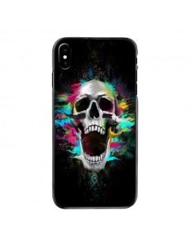 Coque rigide iPhone X multi color Skull