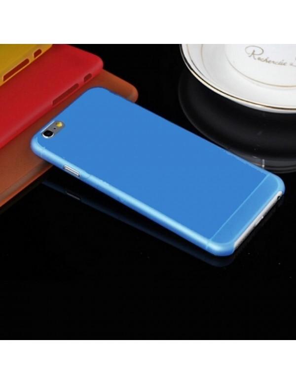 Coque iPhone 6 plus/6S Plus - Silicone Bleu translucide.