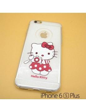 iPhone 6 plus/6S plus - Coque silicone Hello Kitty photographe
