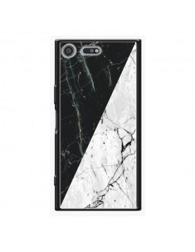 Coque rigide Sony Xpéria XZ Premium - Marbré noir et blanc
