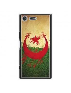 Coque rigide Sony Xpéria XZ Premium - Drapeau Algérie grunge