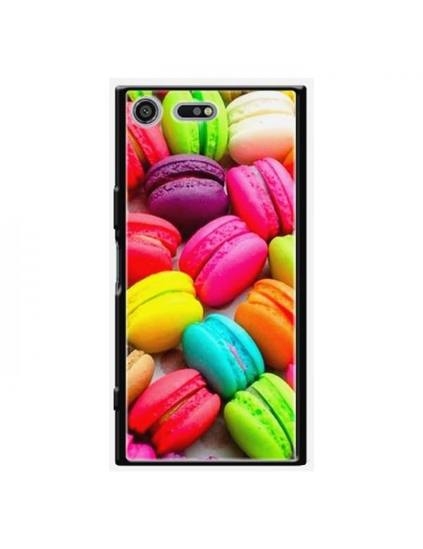 Coque rigide Sony Xpéria XZ Premium - Motif macarons multi-couleurs