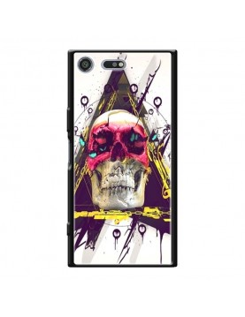 Coque rigide Sony Xpéria XZ Premium - Motif Skull and Triangle