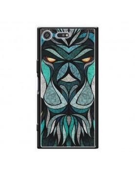 Coque rigide Sony Xpéria XZ Premium - Motif tête de lion tribal