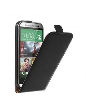 Etui-clapet-HTC-M8-simili-cuir-noir