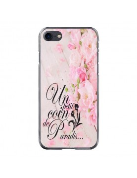 Coque-iPhone-7-8-rigide-Un-petit-coin-de-paradis-fleurie-cote-transparent
