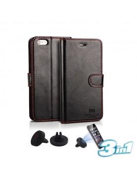 étui-portefeuille-noir-Samsung-Galaxy-Note-8-Mylow-support-voiture-vue-face