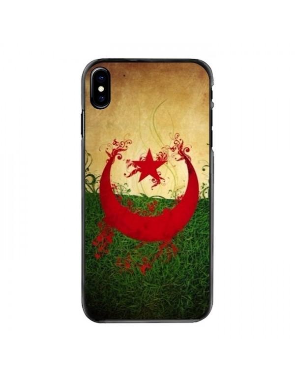 Coque iPhone X/XS - Motif Drapeau Algérie grunge