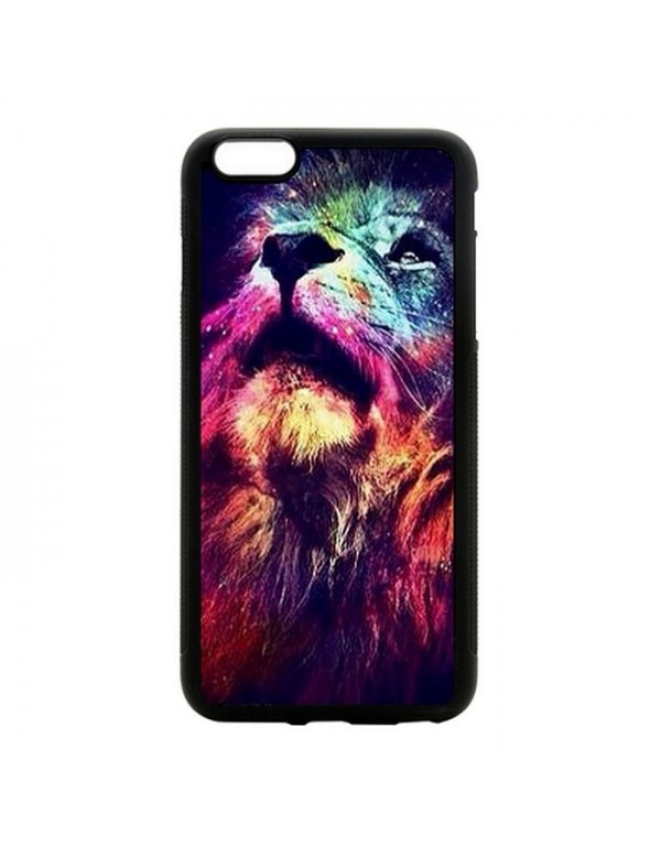 "Coque 2D iPhone 6 Plus 6S Plus 5.5"" tête de lion"