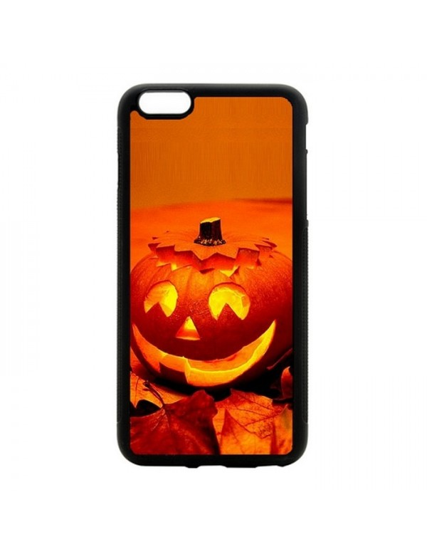 Coque iPhone 6 Plus/6S Plus Halloween citrouille orange