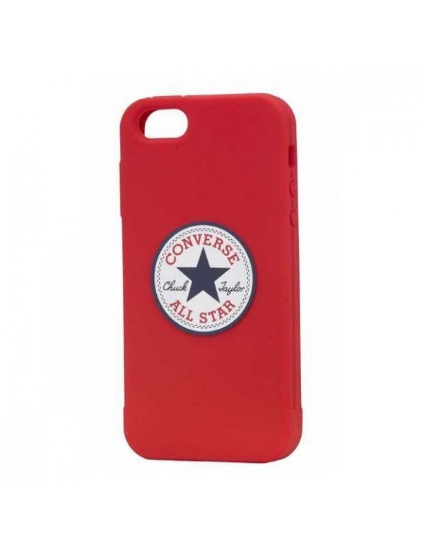 Coque en silicone rouge licence officielle Converse iPhone 6/6S