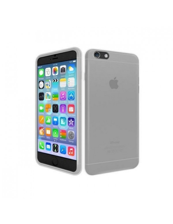 coque iphone 6 6s souple gris translucide
