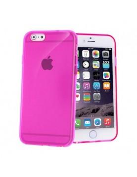 Coque iPhone 6/6S souple Rose translucide.