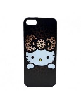 Coque souple contour noir pour protéger votre iPhone 6/6S chat Hello Kitty.