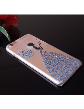 Coque silicone iPhone 6/6S  - Motif: Robe diamant bleu