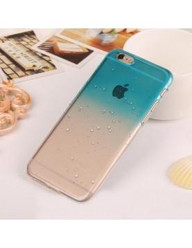 Coque rigide  iphone 6/6S - Bleu transparente effet 3d goutte de pluie