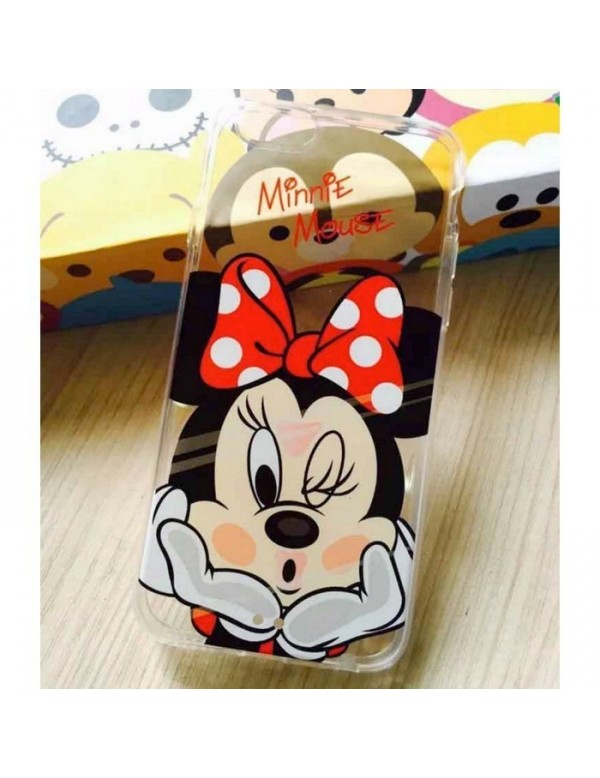 Coque silicone iPhone 6/6S - Minnie mousse