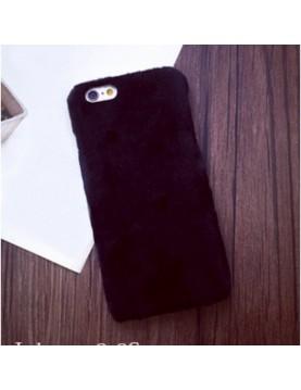 Coque iPhone 6/6S - Peau de peluche fourrure noir