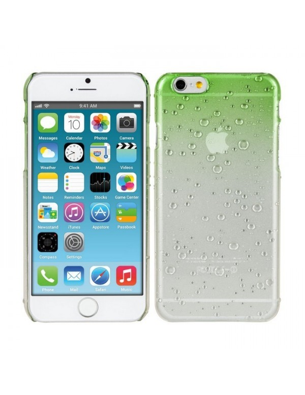 Coque rigide iphone 6/6S - Effet 3d goutte de pluie vert