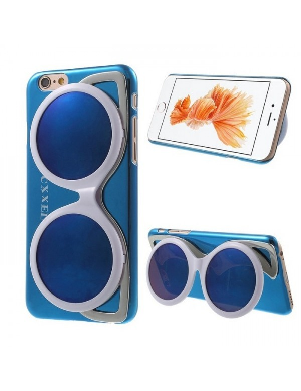 Coque iPhone 6/6S - Lunette de soleil blanche design brillant bleu