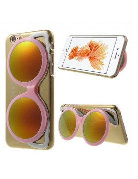 Coque iPhone 6/6S - Lunette de soleil rose design brillant miroir or