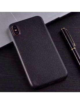 coque-téléphone-iPhone-x-silicone-noir-imitation-cuir