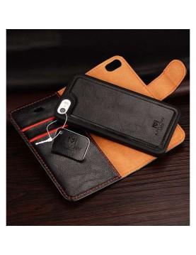 Étui portefeuille Galaxy S7 Noir magnétique - Mylow Design