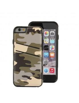 Coque iPhone 6/6S - Look armée camouflage sable du desert effet cuir