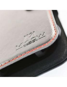 Étui portefeuille Galaxy S7 Edge Noir magnétique + support voiture - Mylow Design