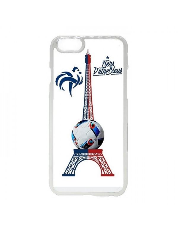 Coque rigide iPhone 6/6S - Fiers d'être bleus tour Eiffel bleu blanc rouge