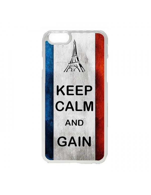 Coque rigide iPhone 6/6S - France Keep Calm and Gain