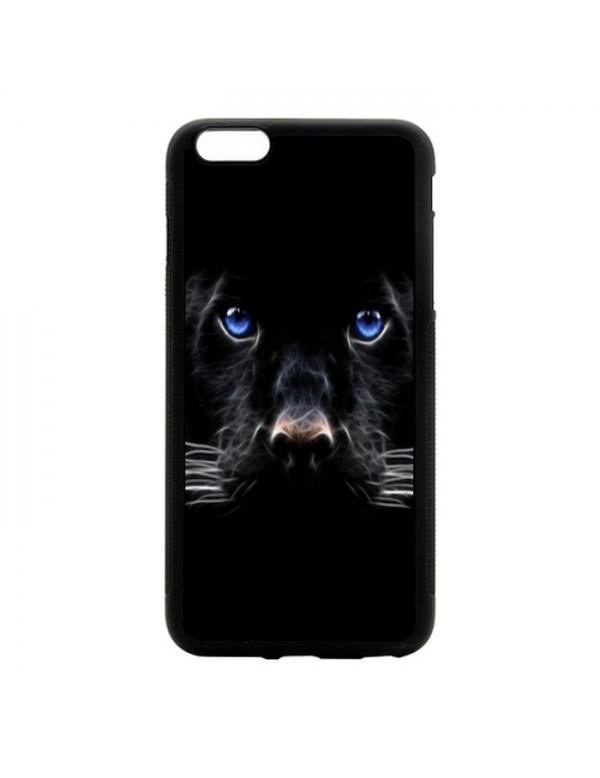 Coque rigide iPhone 6/6S - Panthere noire aux yeux bleus