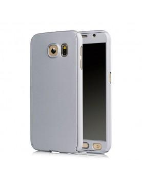 Coque Argent full 360° avec verre trempé intégré Samsung Galaxy A3 2017