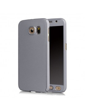 Coque gris sidéral full 360° avec verre trempé intégré Samsung Galaxy A3 2017