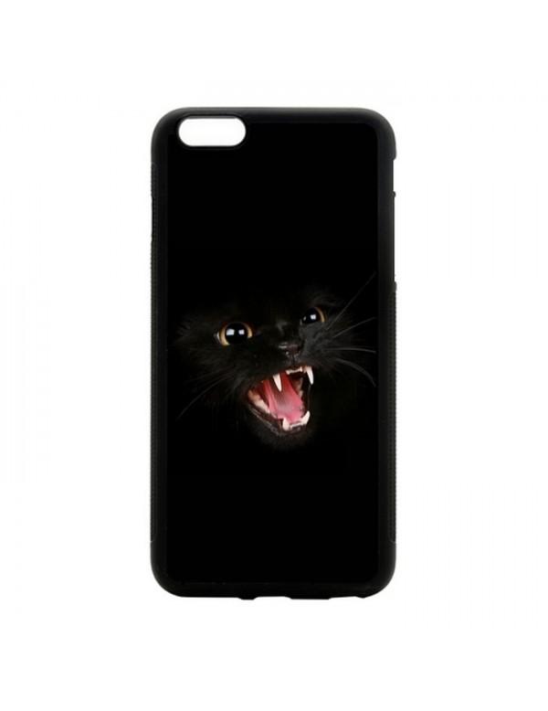 Coque rigide iPhone 6/6S - Chat noir terrifiant