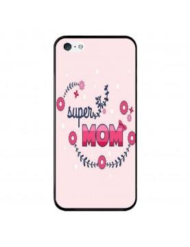 Coque-Rigide-iPhone-5-5S-SE-Super-Mom-Rose-super-maman