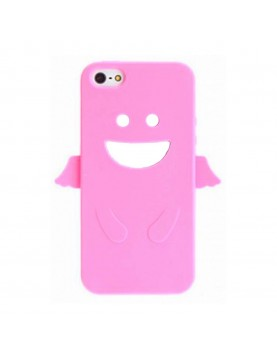 Coque silicone iPhone 4/4S - Angel's Case - Rose