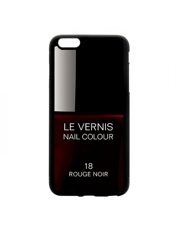 Coque rigide pour iPhone 6/6S, Le Vernis-18-Rouge Noir