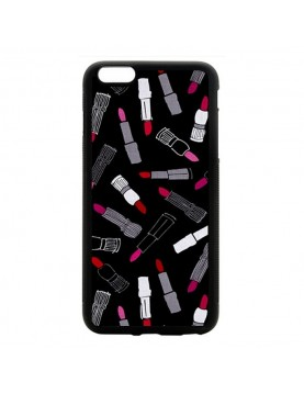 Coque rigide iPhone 6/6S - Des  rouges à lèvres sur fond noir