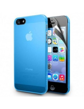 Coque  Silicone Gel  iPhone 4 / 4S      - Couleur - Bleu