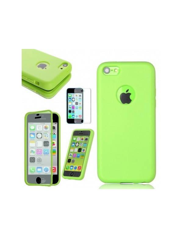COQUE ETUI HOUSSE Flip Cover Silicone Gel iPhone 6Plus /6S Plus 5.5in - Vert