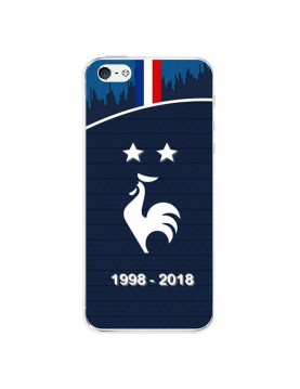 Coque rigide iPhone 5/5S SE - Football Champion du monde 2018