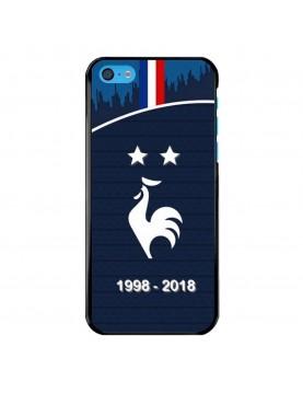 Coque-rigide-iPhone-5C-Football-Champion-du-monde-2018