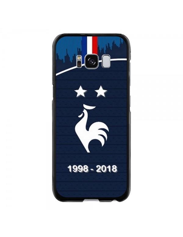 Coque rigide Samsung Galaxy S8 - Football Champion du monde 2018 - Merci les bleus!