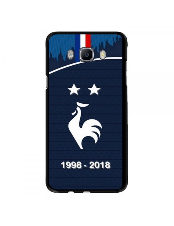 Coque rigide Samsung Galaxy J7 2016 - Football Champion du monde 2018 - Merci les bleus!