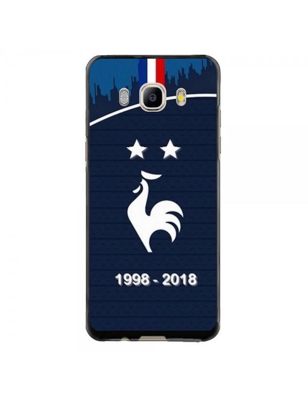 Coque rigide Samsung Galaxy J5 de 2016 - Football Champion du monde 2018 - Merci les bleus!