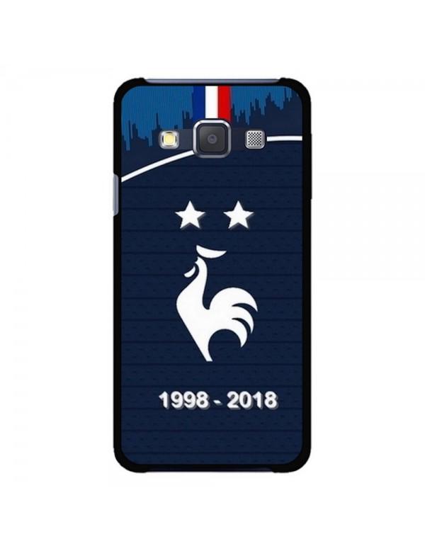 Coque rigide Samsung Galaxy A3 de 2015 - Football Champion du monde 2018 - Merci les bleus!